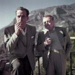 Humphrey Bogart and Peter Lorre on the set of Beat the Devil, Ravello, Italy, 1953.